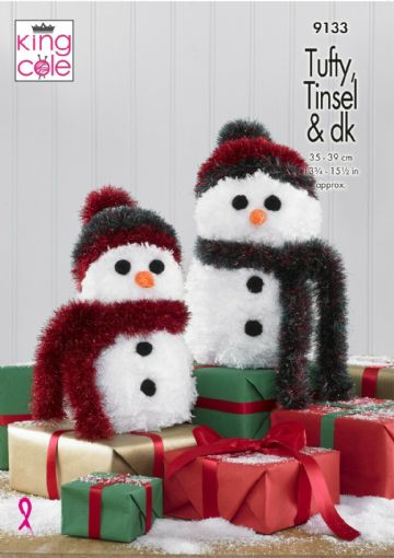 Snowmen Knitting Pattern - King Cole 9133, Tufty and Tinsel snowman